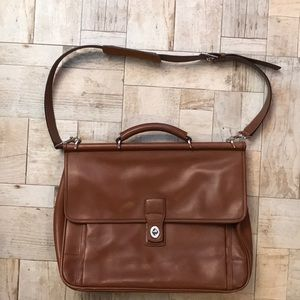 Leather Coach Briefcase